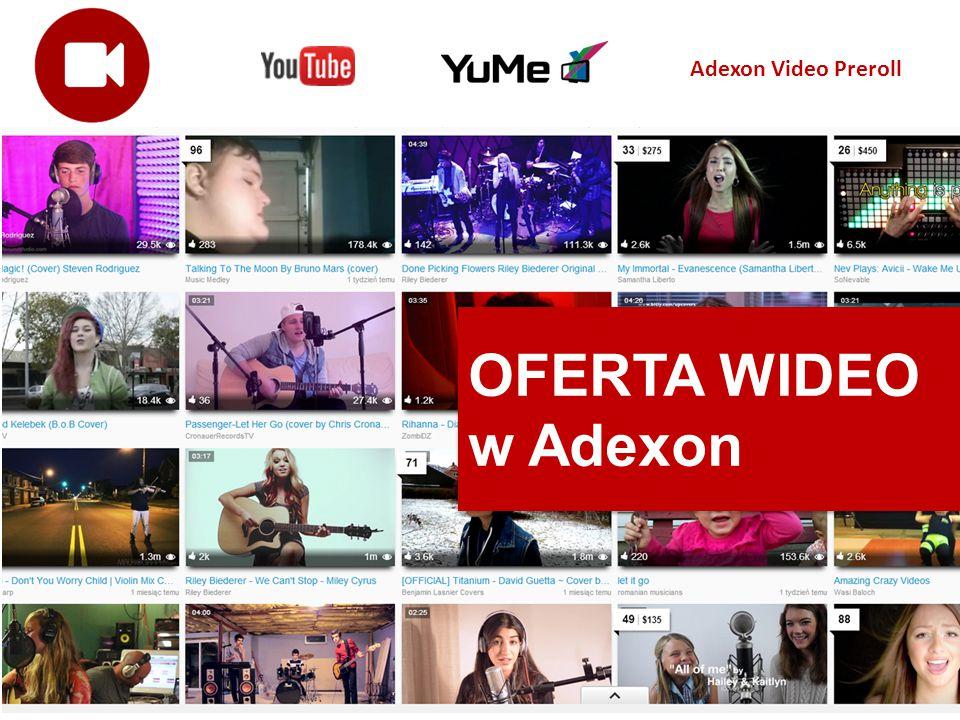 OFERTA WIDEO w Adexon OFERTA WIDEO w Adexon Adexon Video Preroll