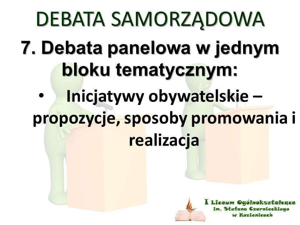 DEBATA SAMORZĄDOWA 7.