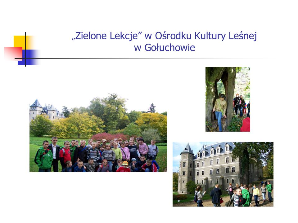 """"""" Zielone Lekcje"""" w Ośrodku Kultury Leśnej w Gołuchowie"""