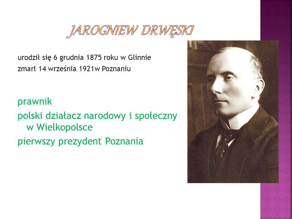 urodził się 6 grudnia 1875 roku w Glinnie zmarł 14 września 1921w Poznaniu prawnik polski działacz narodowy i społeczny w Wielkopolsce pierwszy prezyd