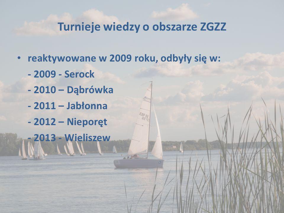 Turnieje wiedzy o obszarze ZGZZ reaktywowane w 2009 roku, odbyły się w: - 2009 - Serock - 2010 – Dąbrówka - 2011 – Jabłonna - 2012 – Nieporęt - 2013 -