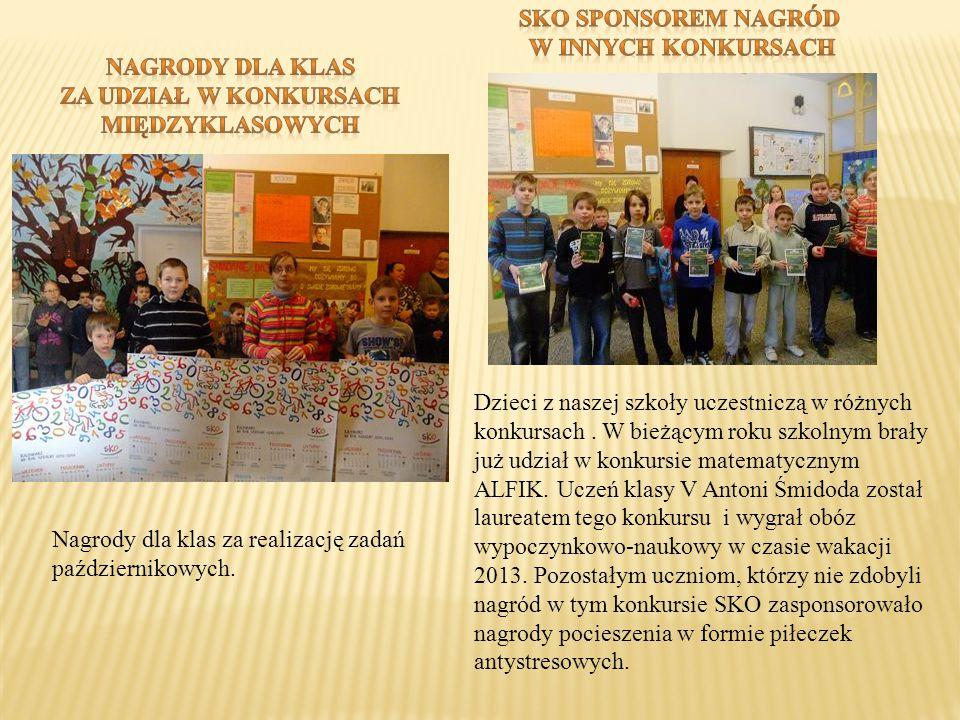 Dzieci z naszej szkoły uczestniczą w różnych konkursach. W bieżącym roku szkolnym brały już udział w konkursie matematycznym ALFIK. Uczeń klasy V Anto