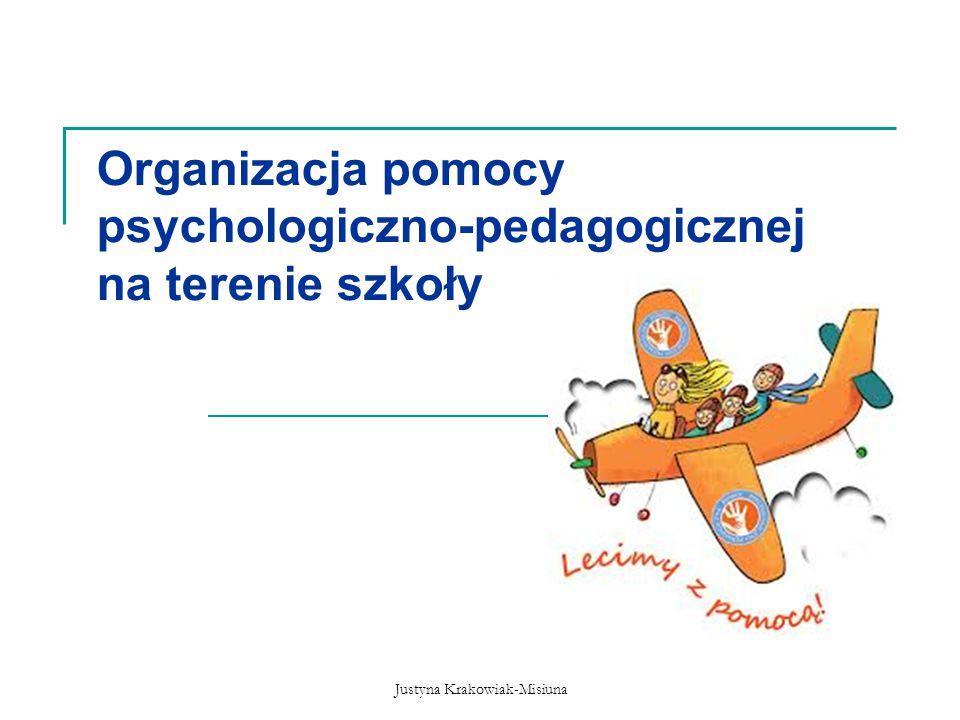 Justyna Krakowiak-Misiuna Organizacja pomocy psychologiczno-pedagogicznej na terenie szkoły