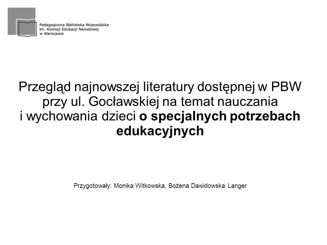 Przegląd najnowszej literatury dostępnej w PBW przy ul.