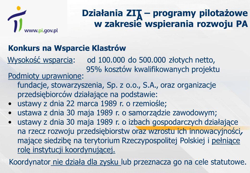 Wysokość wsparcia: od 100.000 do 500.000 złotych netto, 95% kosztów kwalifikowanych projektu Podmioty uprawnione: fundacje, stowarzyszenia, Sp.