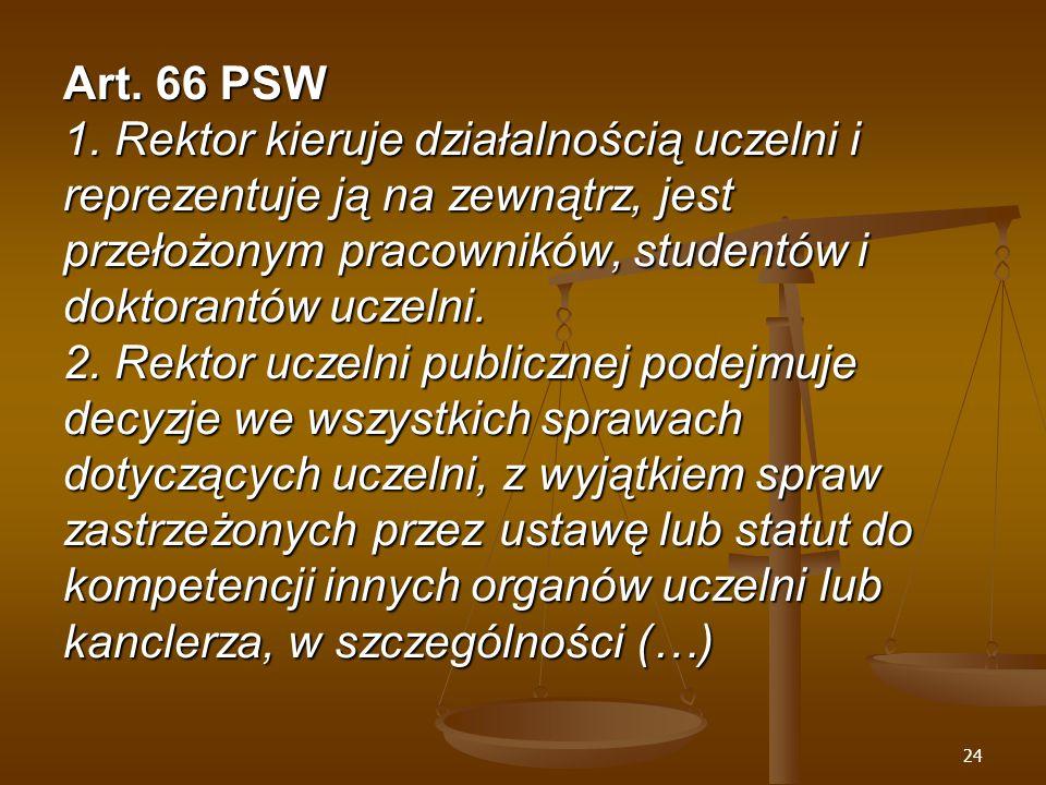 24 Art. 66 PSW 1.