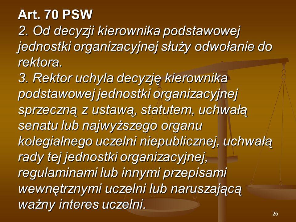 26 Art. 70 PSW 2.