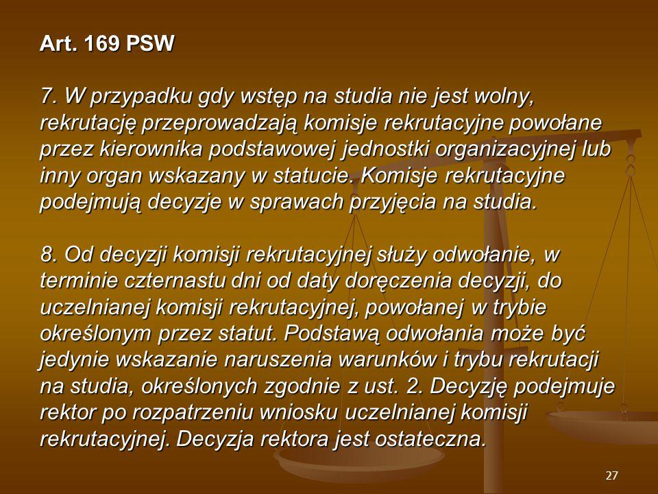 27 Art. 169 PSW 7.
