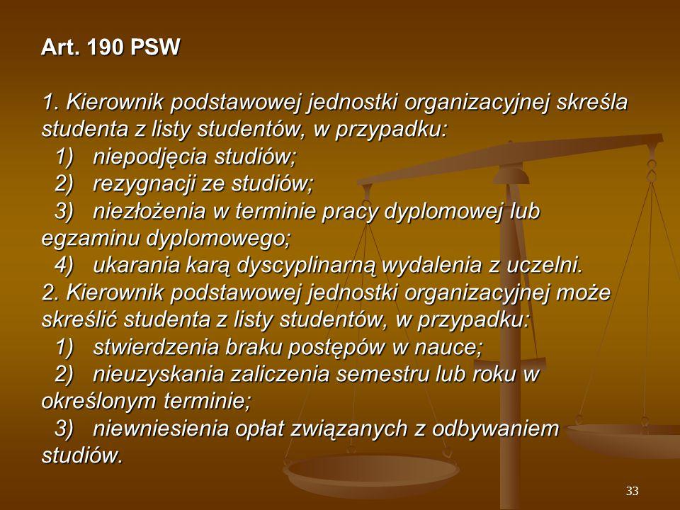 33 Art. 190 PSW 1.