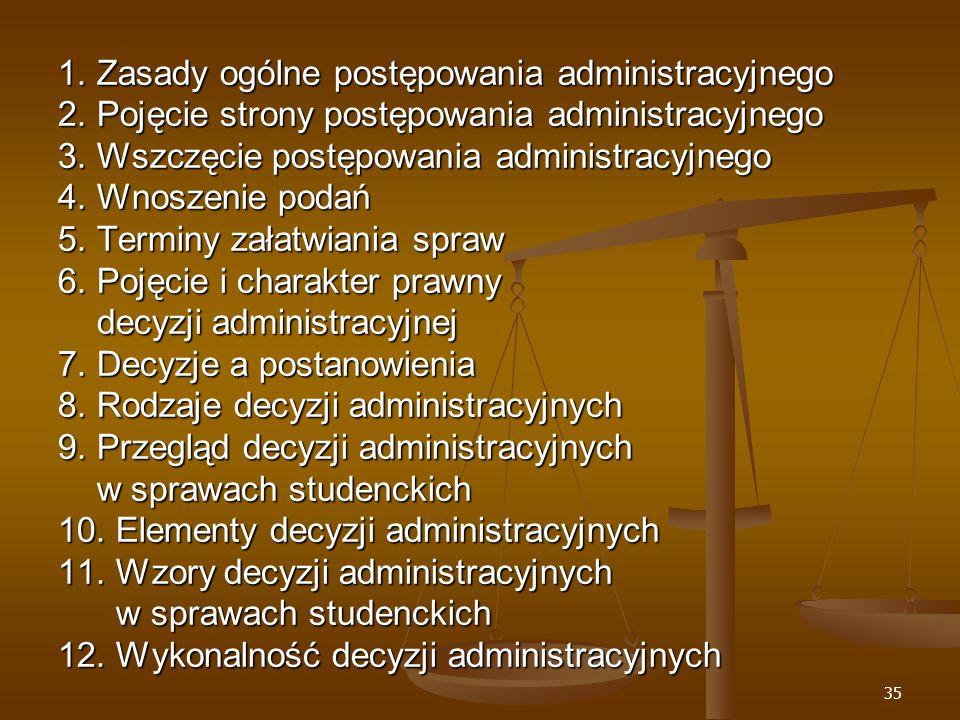 35 1. Zasady ogólne postępowania administracyjnego 2.