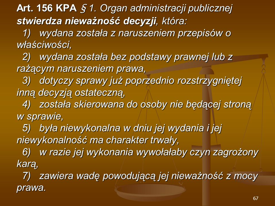 67 Art. 156 KPA § 1.