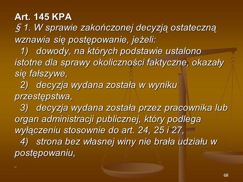 68 Art. 145 KPA § 1.