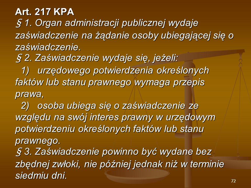 72 Art. 217 KPA § 1.