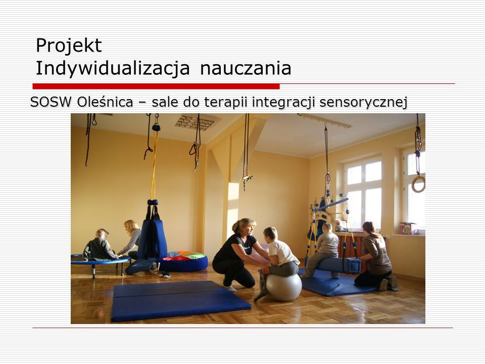 Projekt Indywidualizacja nauczania SOSW Oleśnica – sale do terapii integracji sensorycznej