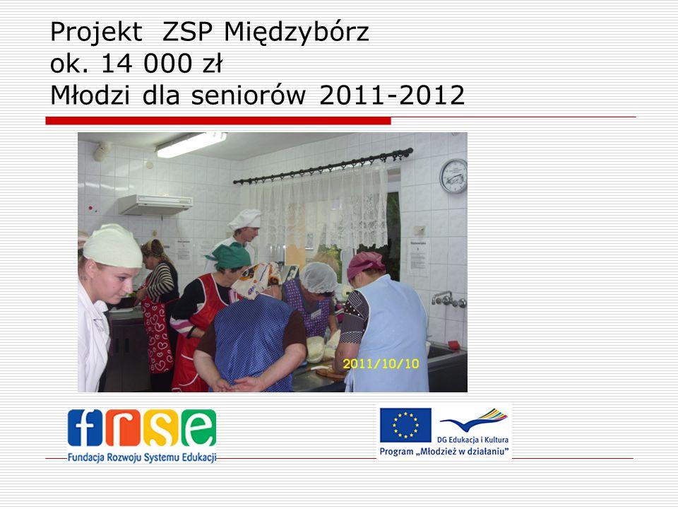 Projekt ZSP Międzybórz ok. 14 000 zł Młodzi dla seniorów 2011-2012