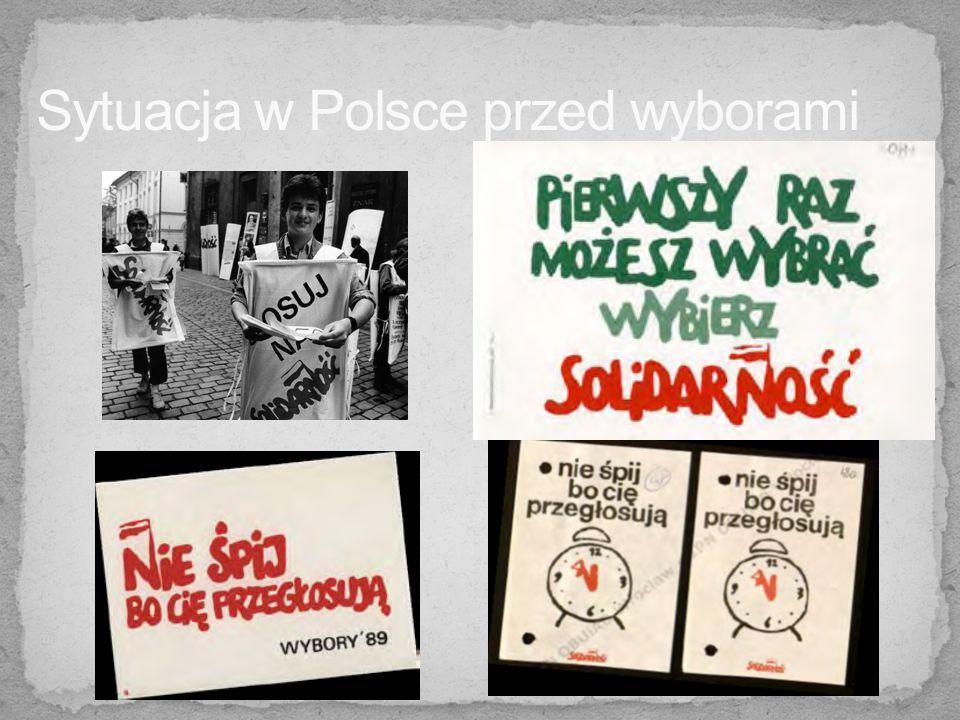 - zgoda władz komunistycznych na zorganizowanie pierwszych częściowo wolnych wyborów do Sejmu !!.