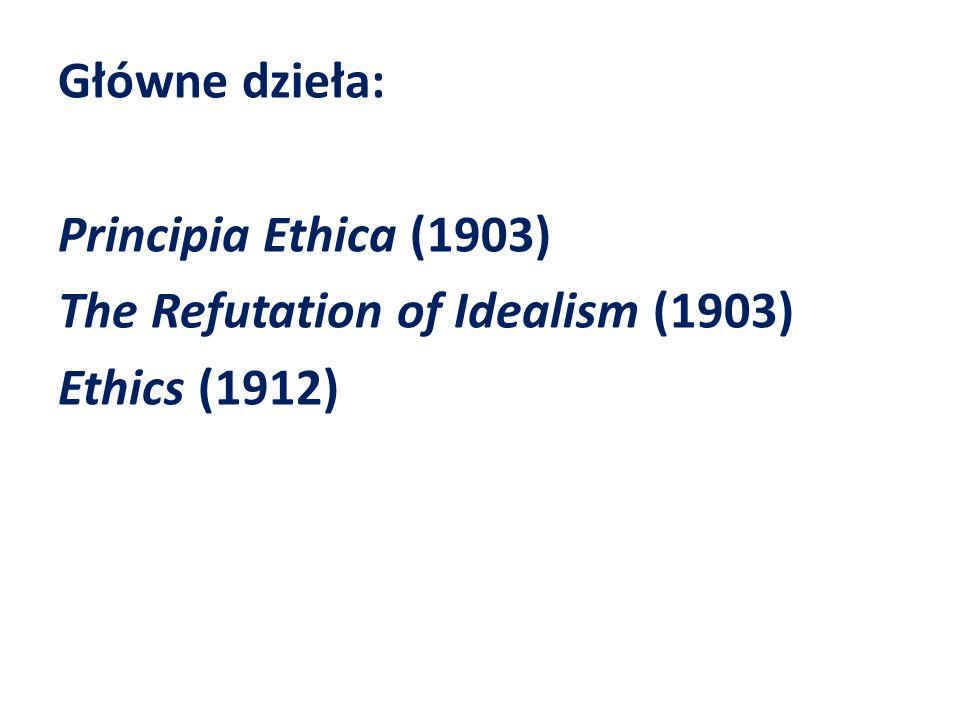 Przedmiot etyki A 1.