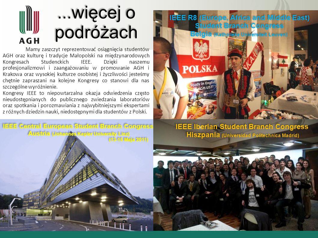 ...więcej o podróżach Mamy zaszczyt reprezentować osiągnięcia studentów AGH oraz kulturę i tradycje Małopolski na międzynarodowych Kongresach Studenck