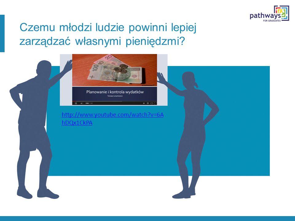 Czemu młodzi ludzie powinni lepiej zarządzać własnymi pieniędzmi? http://www.youtube.com/watch?v=6A hDQx1CkPA