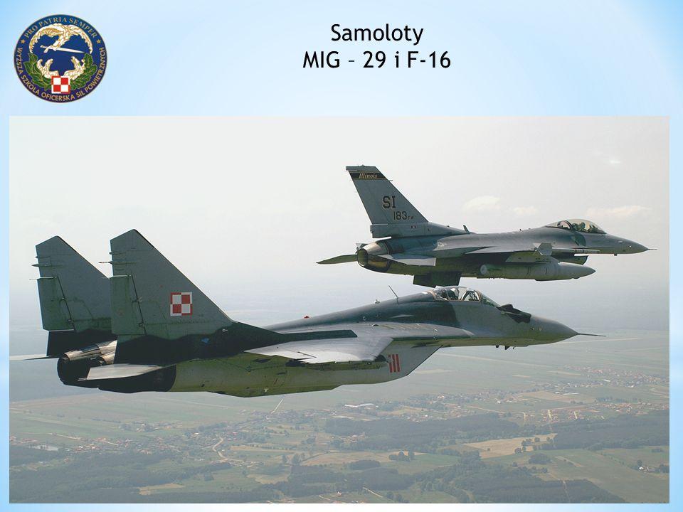 Samoloty MIG – 29 i F-16