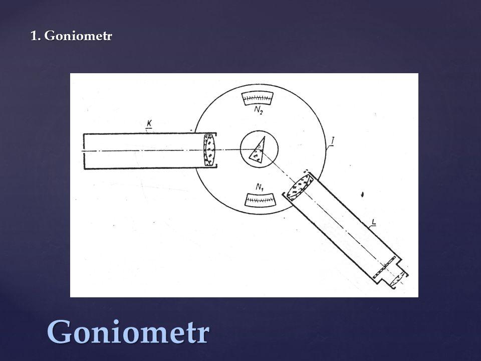 Goniometr 1. Goniometr
