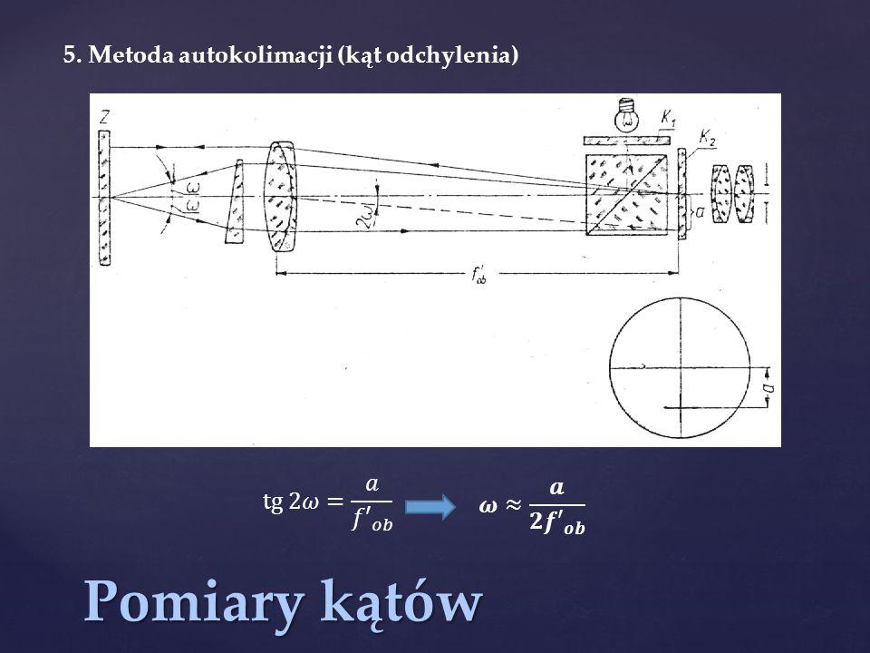 Pomiary kątów 5. Metoda autokolimacji (kąt odchylenia)