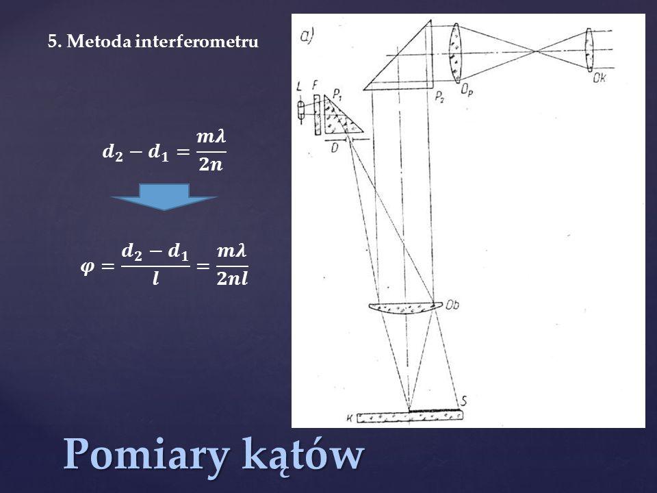 Pomiary kątów 5. Metoda interferometru