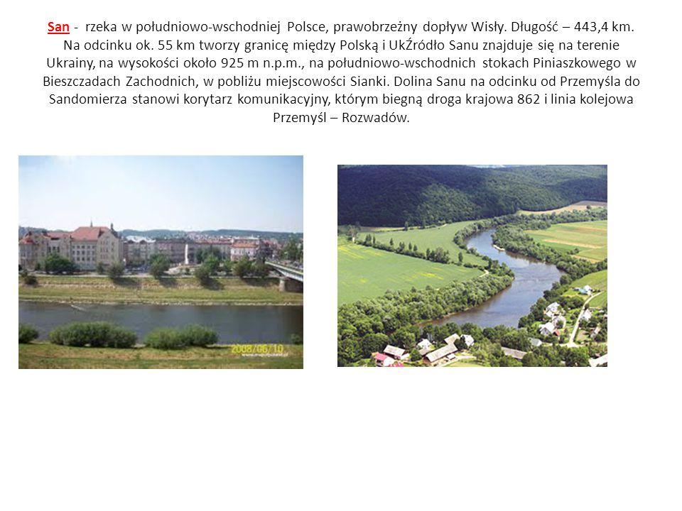 San - rzeka w południowo-wschodniej Polsce, prawobrzeżny dopływ Wisły. Długość – 443,4 km. Na odcinku ok. 55 km tworzy granicę między Polską i UkŹródł