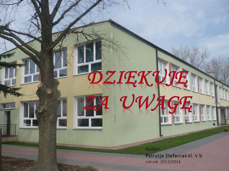 Autor: Patrycja Stefaniak kl. V b rok szk. 2013/2014
