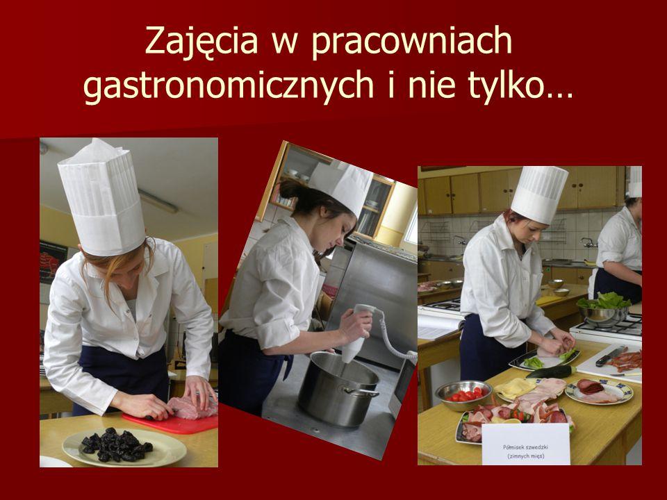 Zajęcia w pracowniach gastronomicznych i nie tylko…