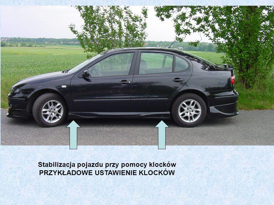 Stabilizacja pojazdu przy pomocy klocków PRZYKŁADOWE USTAWIENIE KLOCKÓW