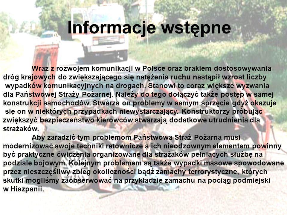 Informacje wstępne Wraz z rozwojem komunikacji w Polsce oraz brakiem dostosowywania dróg krajowych do zwiększającego się natężenia ruchu nastąpił wzro