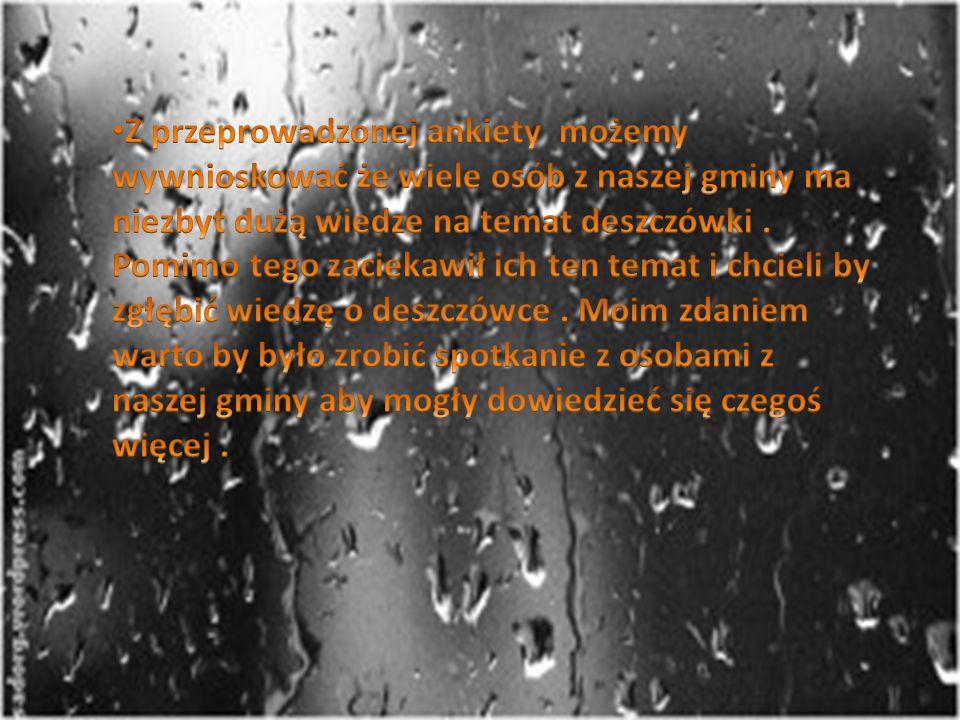 Pytanie 10 : Czy chciał/a byś zgłębiać wiedzę na temat deszczówki ?