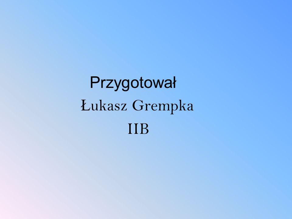 Przygotował Ł ukasz Grempka IIB