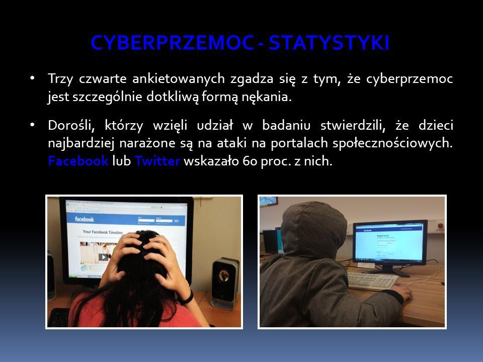 Trzy czwarte ankietowanych zgadza się z tym, że cyberprzemoc jest szczególnie dotkliwą formą nękania. Dorośli, którzy wzięli udział w badaniu stwierdz