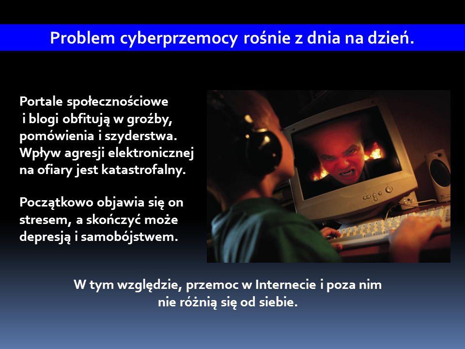 Portale społecznościowe i blogi obfitują w groźby, pomówienia i szyderstwa. Wpływ agresji elektronicznej na ofiary jest katastrofalny. Początkowo obja