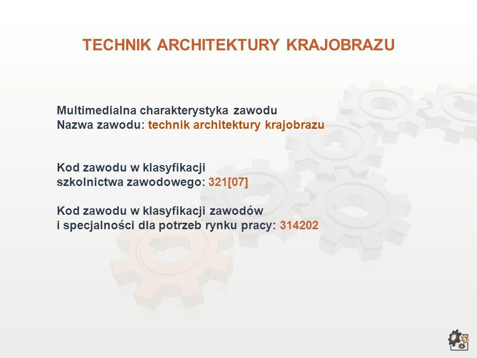 TECHNIK ARCHITEKTURY KRAJOBRAZU wersja dla gimnazjum i szkół ponadgimnazjalnych