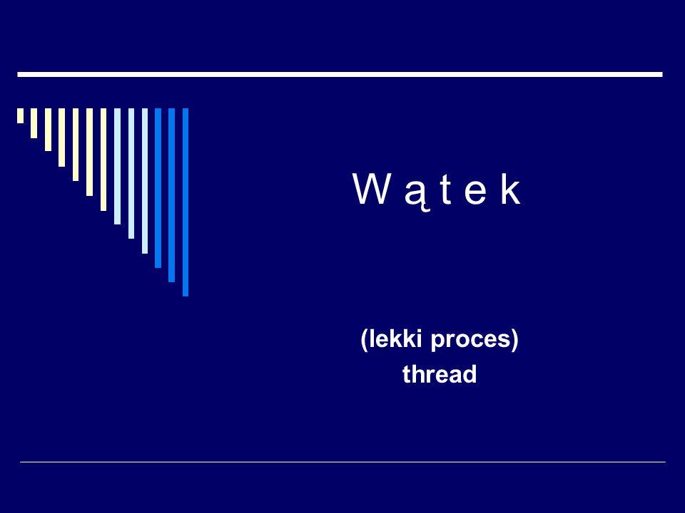 W ą t e k (lekki proces) thread