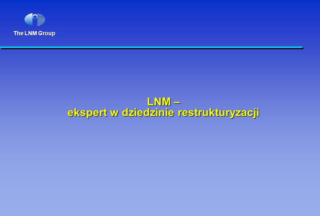 The LNM Group LNM – ekspert w dziedzinie restrukturyzacji