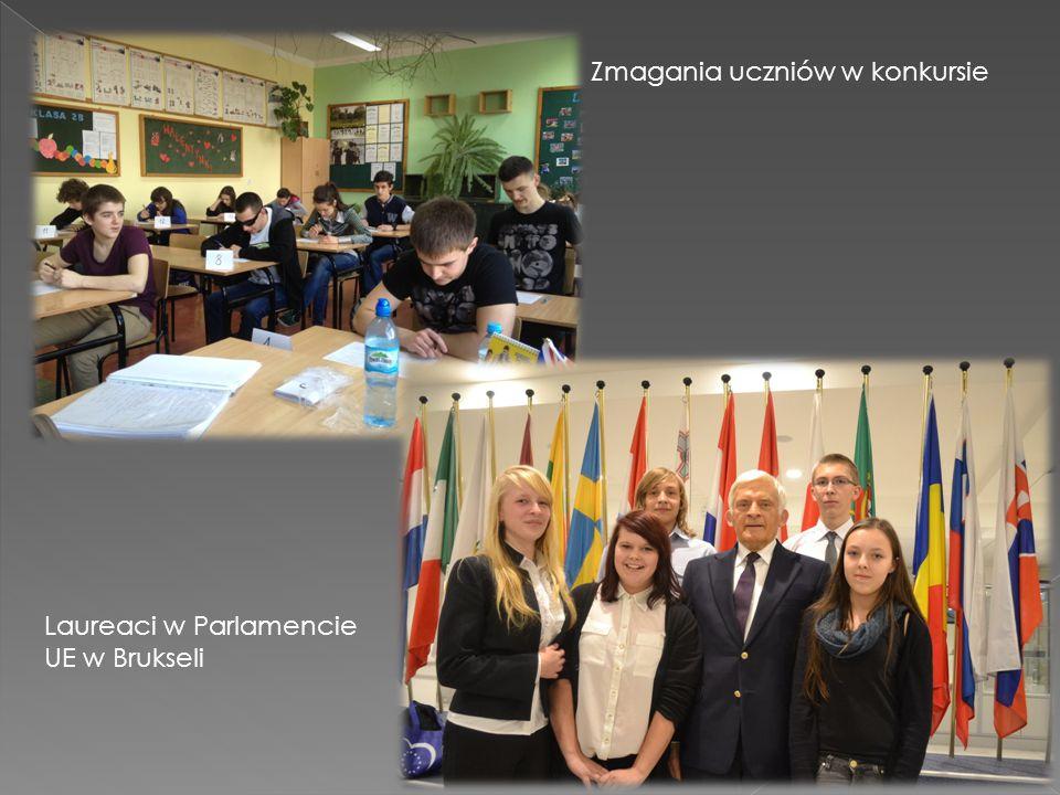 Zmagania uczniów w konkursie Laureaci w Parlamencie UE w Brukseli