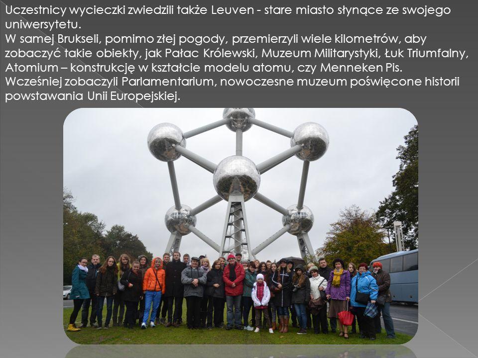 Uczestnicy wycieczki zwiedzili także Leuven - stare miasto słynące ze swojego uniwersytetu.
