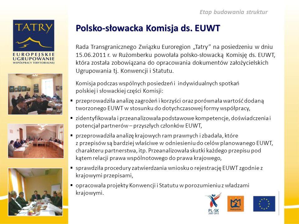 """Polsko-słowacka Komisja ds. EUWT Polsko-słowacka Komisja ds. EUWT Rada Transgranicznego Związku Euroregion """"Tatry"""" na posiedzeniu w dniu 15.06.2011 r."""