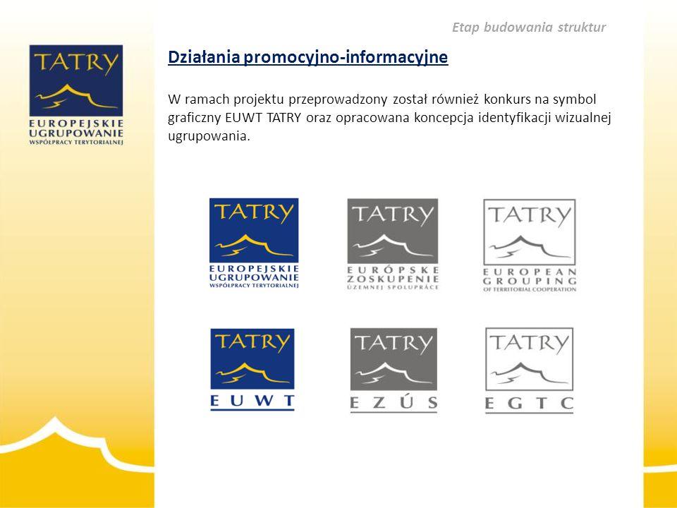 Działania promocyjno-informacyjne W ramach projektu przeprowadzony został również konkurs na symbol graficzny EUWT TATRY oraz opracowana koncepcja ide