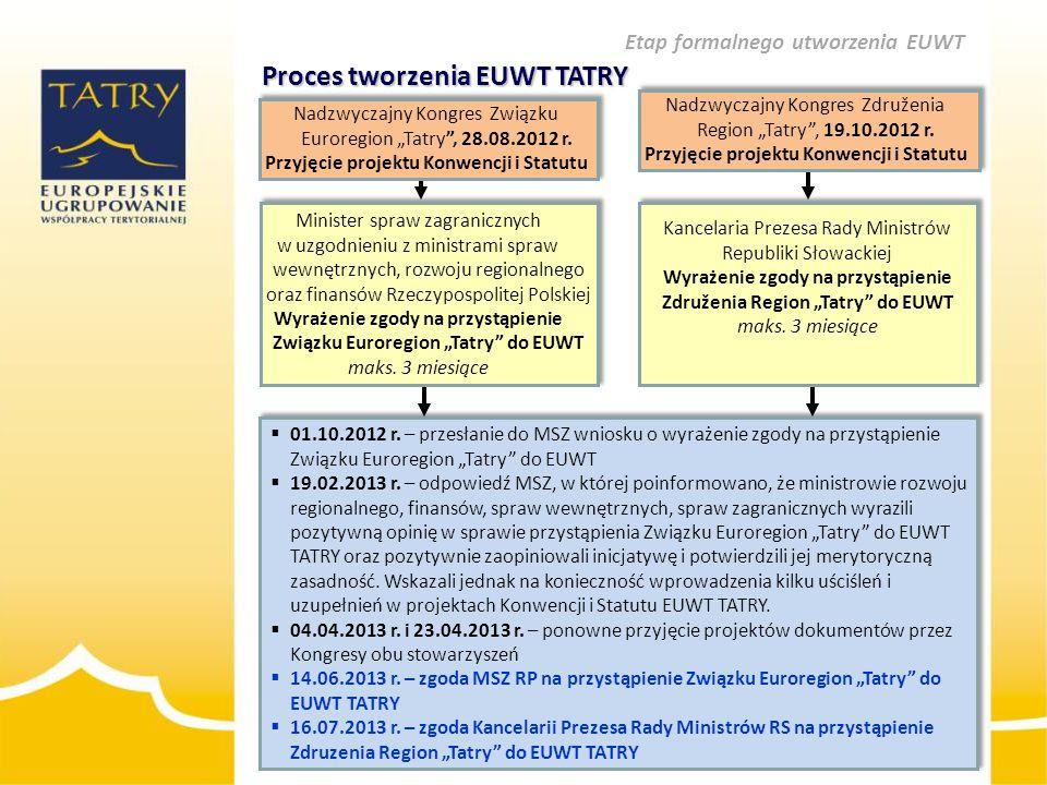 """Proces tworzenia EUWT TATRY Nadzwyczajny Kongres Związku Euroregion """"Tatry"""", 28.08.2012 r. Przyjęcie projektu Konwencji i Statutu Nadzwyczajny Kongres"""