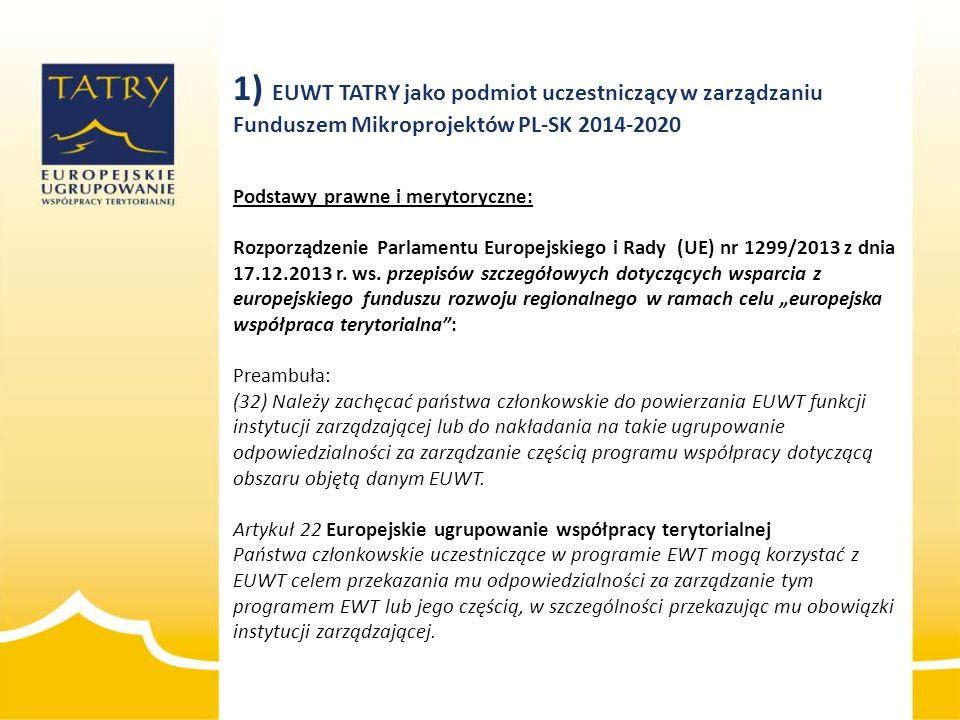 Podstawy prawne i merytoryczne: Rozporządzenie Parlamentu Europejskiego i Rady (UE) nr 1299/2013 z dnia 17.12.2013 r. ws. przepisów szczegółowych doty