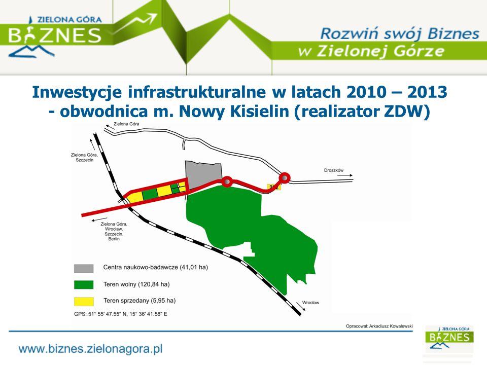 Inwestycje infrastrukturalne w latach 2010 – 2013 - sieć wodociągowa (realizator ZWiK)