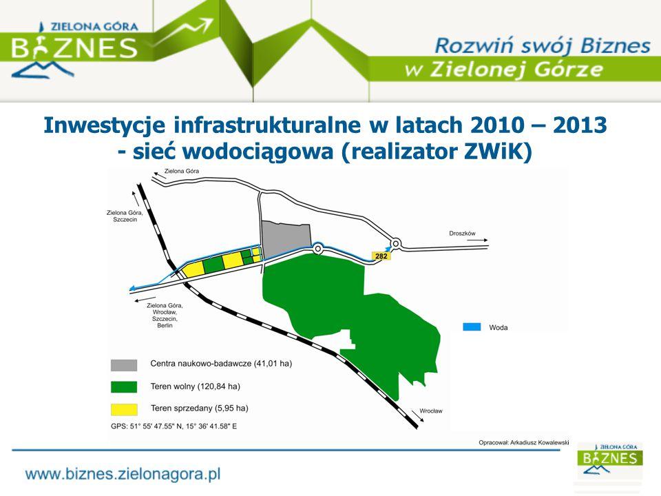 Inwestycje infrastrukturalne w latach 2010 – 2013 - sieć światłowodowa (realizator ZWiK)