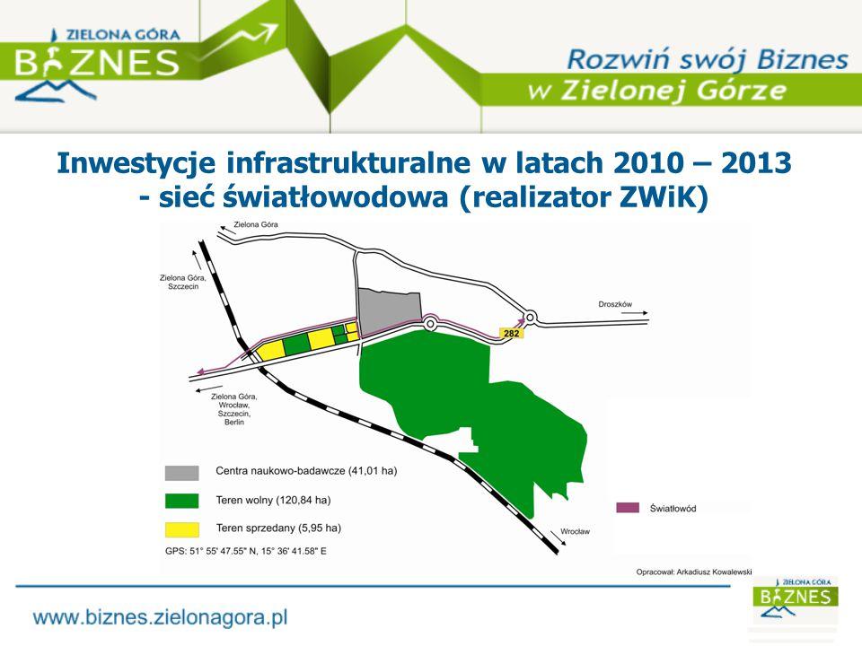 Inwestycje infrastrukturalne w latach 2010 – 2013 - kanalizacja sanitarna (realizator ZWiK)