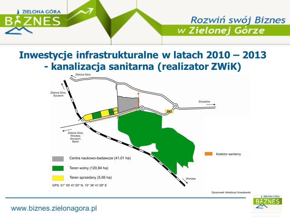 Inwestycje infrastrukturalne w latach 2010 – 2013 - linia energetyczna (realizator ENEA Operator)