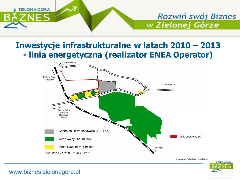 Inwestycje infrastrukturalne w latach 2010 – 2013 - gazociąg (realizator DSG Zgorzelec)